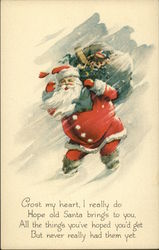 Crost my Heart, I Really do Hope old Santa Brings to You All the Things you've Hoped You'd Get Postcard