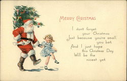 Merry Christmas, I Don't Forget your Christmas Just Because You're Small, You Bet Postcard