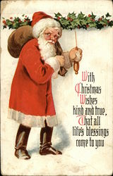 With Christmas Wishes Kind and True, That all Life's Blessings Come to You Postcard