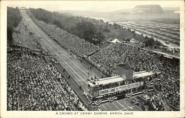 A Crowd at Derby Downs Akron Ohio