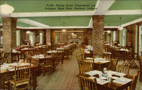 Dining Room, Potawatomi Inn Pokagon State Park Indiana