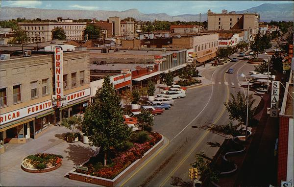 View Eastward Along Main Street Grand Junction, CO Postcard