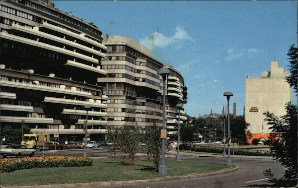 Watergate Office Building, Howard Johnson Motel Washington District of Columbia