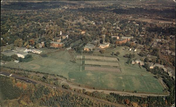 Aerial View of Amherst College Massachusetts