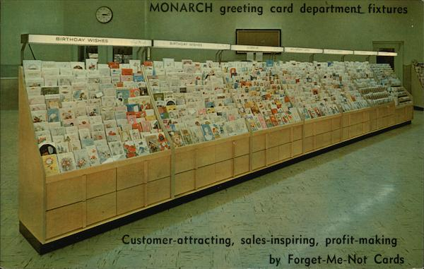Monarch Greeting Card Department Fixtures Cleveland Ohio