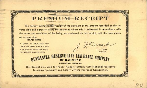Guarantee Reserve Life Ins. Co. of Hammond Indiana
