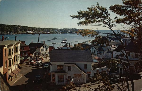 View Down Commercial Street and Across Harbor