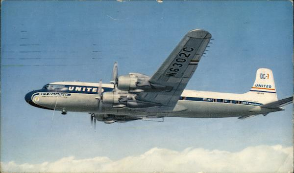 United DC-7 Airliner Aircraft