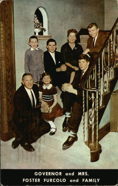 Governor and Mrs. Foster Furcolo and Family Political