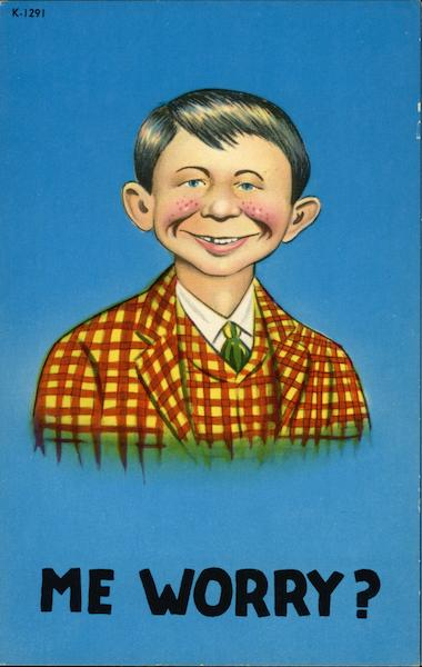 Me Worry? Alfred E. Neuman Comic, Funny