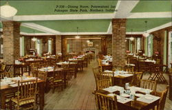 Dining Room, Potawatomi Inn Postcard