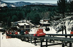 Mt. Cranmore Skimobile, Looking Down to Base Station