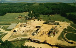 Bird's Eye View of Frontier Town