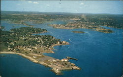 Aerial View of Portsmouth Harbor Postcard