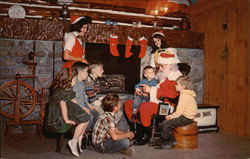 Young Guests Chatting with Santa, Santa's Workshop