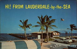 Hi! From Lauderdale-by-the-Sea Postcard