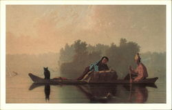 Fur Traders Descending The Missouri by George Caleb Bingham, 1845