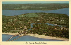 Air View of Leland Postcard
