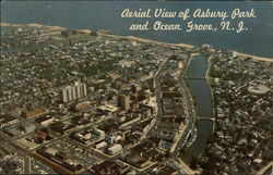 Aerial View of Asbury Park and Ocean Grove, N.J
