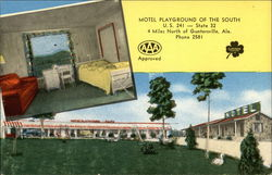 Motel Playground of the South Postcard
