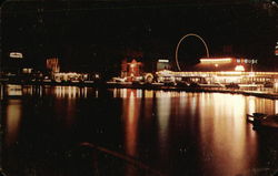 Night Scene at the Amusement Section