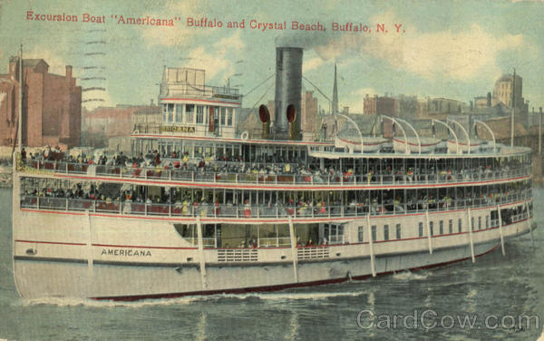 Excursion Boat Americana Buffalo And Crystal Beach New York