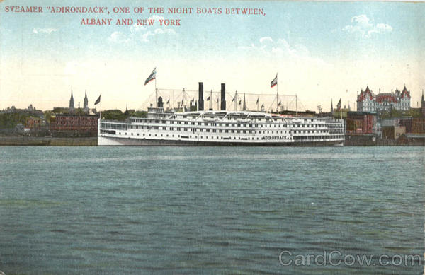 Steamer Adirondack New York City Albany Steamers