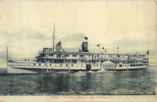 Steamer Toronto Plying On Lake Ontario Steamers