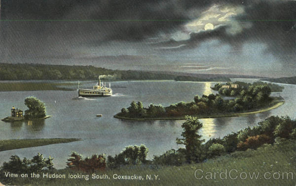 View On The Hudson Looking South Coxsackie New York