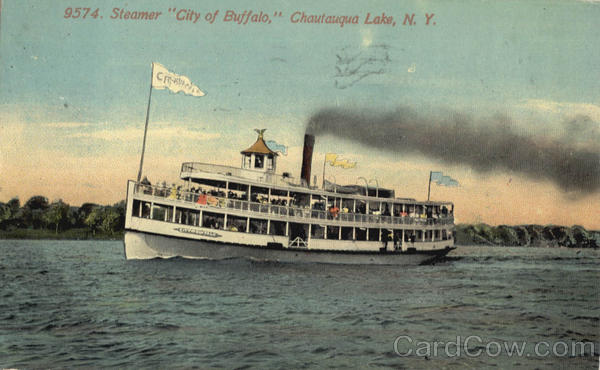 Steamer City Of Buffalo Chautauqua Lake New York Steamers