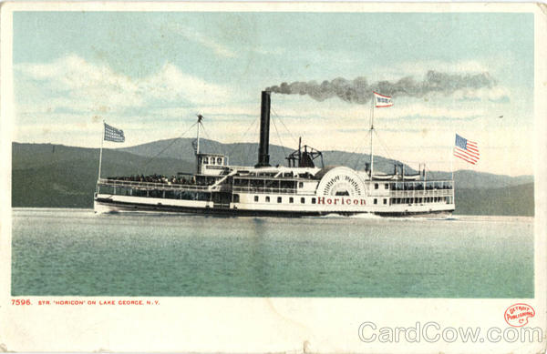 Str. Horicon On Lake George New York Steamers