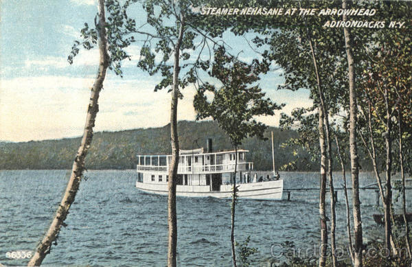 Steamer Nehasane At The Arrowhead Adirondacks New York