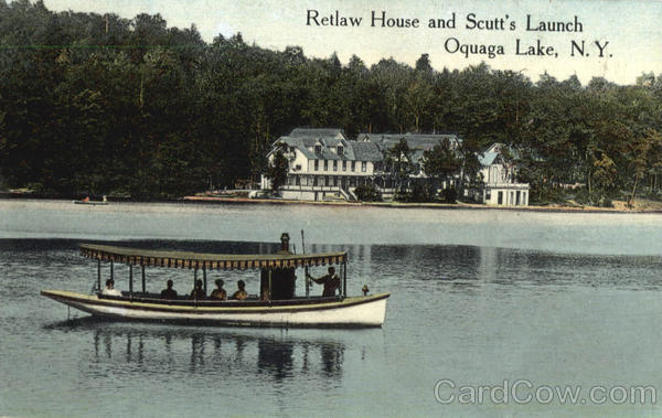 Retlaw House And Scutt's Launch Oquaga Lake New York