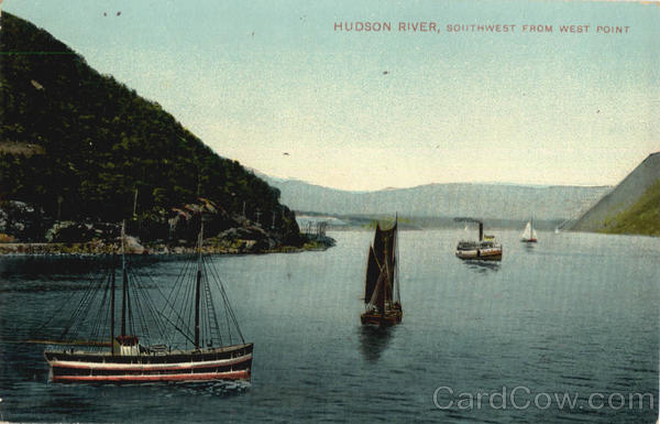 Hudson River Southwest From West Point New York