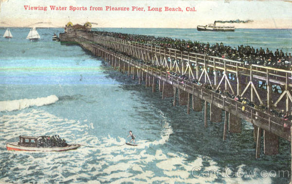 Viewing Water Sports From Pleasure Pier Long Beach California