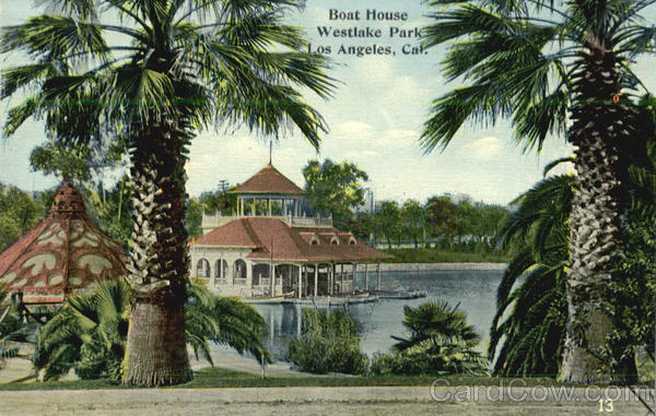 Boat House, Westlake Park Los Angeles California