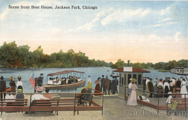 Scene From Boat House, Jackson Park Chicago Illinois