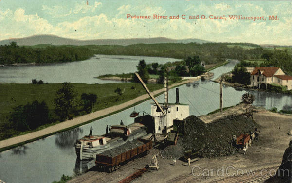 Potomac River And C & O Canal Williamsport Maryland
