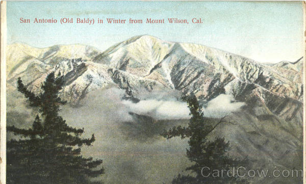 San Antonio In Winter From Mount Wilson Scenic California