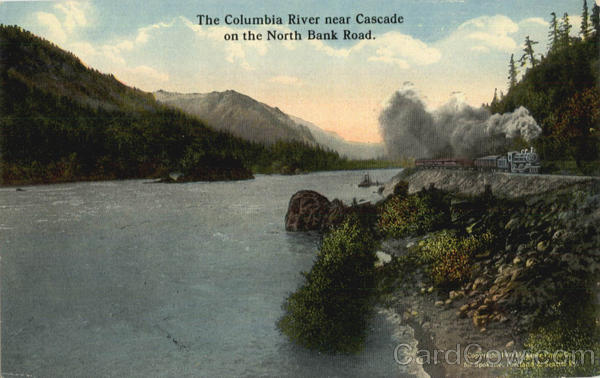 The Columbia River Near Cascade On The North Bank Road