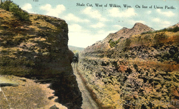 Shale Cut Wilkins Wyoming