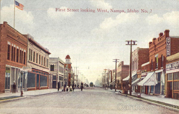 First Street Looking West Nampa Idaho