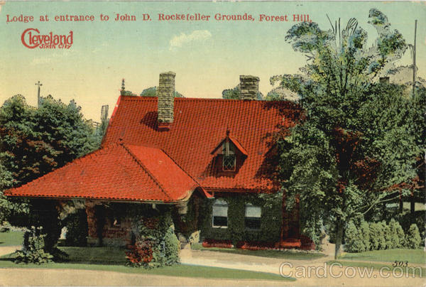 Lodge At Entrance To John D. Rockefeller Grounds, Forest Hill Cleveland Ohio