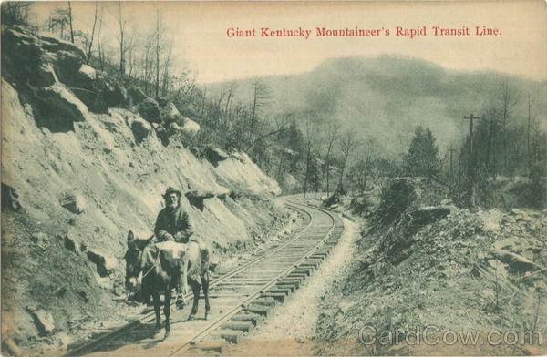 Giant Kentucky Mountaineer's Rapid Transit Line Trains, Railroad