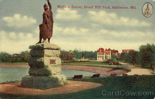 Wallace Statue, Druid Hill Park Baltimore Maryland