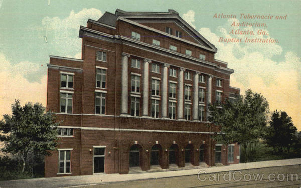 Atlanta Tabernacle And Auditorium Georgia