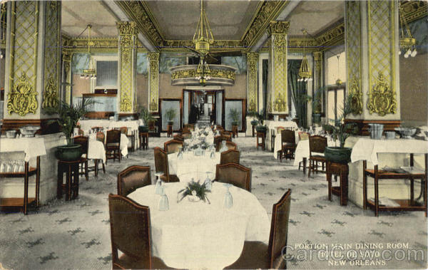 Hotel De Soto Portion Main Dining Room New Orleans Louisiana