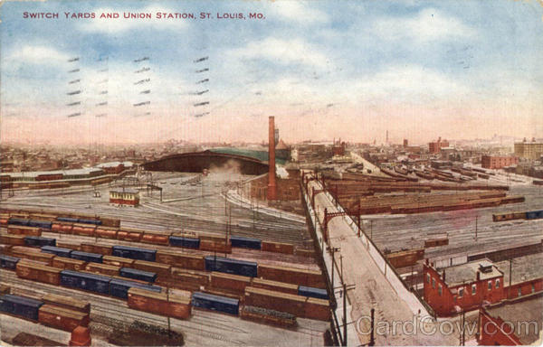 Switch Yards And Union Station St. Louis Missouri
