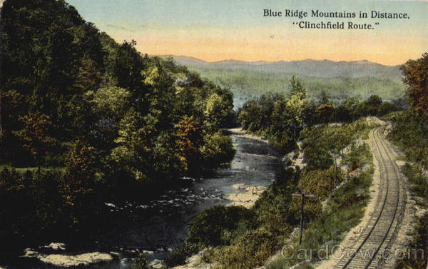 Blue Ridge Mountains In Distance Railroad (Scenic)