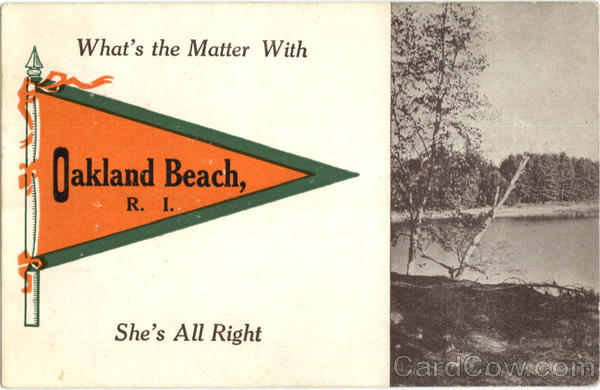 What's The Matter With Oakland Beach Rhode Island Banners & Pennants